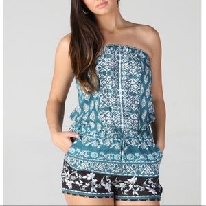 Angie Strapless Romper, Size Small, BNWT